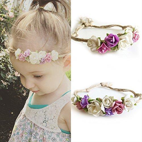 Baby Haarband Stirnband Kopfband Blumen Deko LianLe