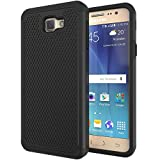 ANLI Galaxy J5 Prime Case,On5 2016 Case, (TM) [Shock Absorption] Hybrid Dual Layer Armor Protective Case Cover for Samsung Galaxy On5 2016/J5 Prime/G570 Black