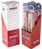 KENT ORALS[KENT] Paquete de 6 cepillos de dientes clásicos suaves, cerdas micro finas, sin BPA para encías y dientes sensibles, 6 Piezas, Rojo, 6.00[set de ]