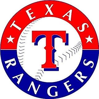 skyhighprint - Texas Rangers MLB Baseball Decor Vinyl Print Sticker 12'' X 12''