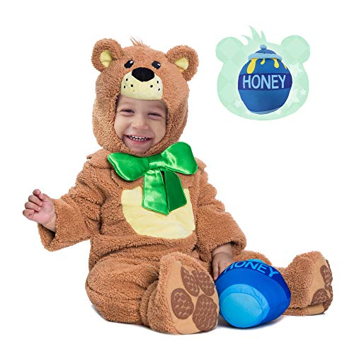 Spooktacular Creations Teddy Baby Bear Costume Deluxe Infant Set for Halloween Trick or Treating Party Dress Up (6-12 Months)