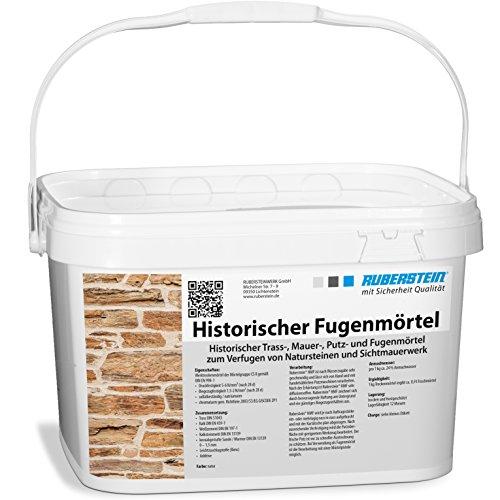 Ruberstein® Historischer Fugenmörtel natur im 10 kg Eimer