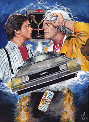 Back to the Future Movie POSTER/DeLorean artwork