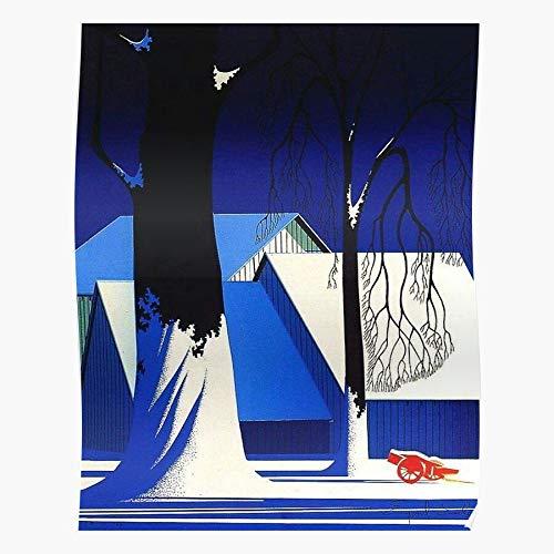 Art Image Barn Ice Christmas Scene Winter Snow Eyvinde Earle Das eindrucksvollste und stilvollste Poster für Innendekoration, das derzeit erhältlich ist