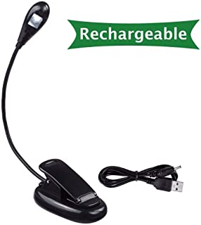 Generic White, Black : Book Light Recharge Booklight Led Ebook Mini Flexible Bright Clip Reader Reading Lamp Kindle Nook 1Arm*1Led 919AL
