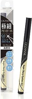 CEZANNE 超细眼线笔 10 黑色 0.48毫升 液体眼线笔 防水防潮 高发色