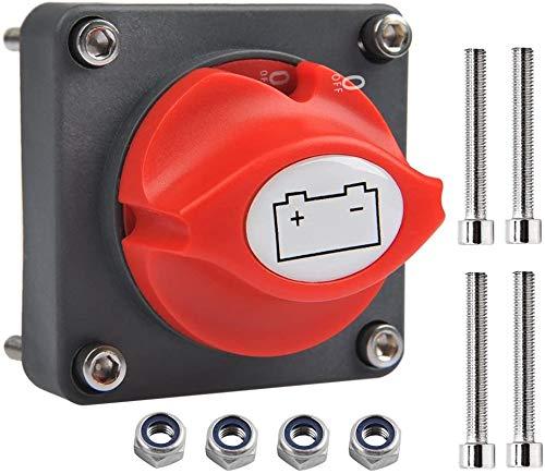 Coupe Circuit de Batterie 12V - 48V Interrupteur Isolateur de Batterie,275A Commutateur d'Isolateur de Batterie Interrupteur de Déconnexion de Batterie étanche pour RV Yacht Bateau Camion Voiture