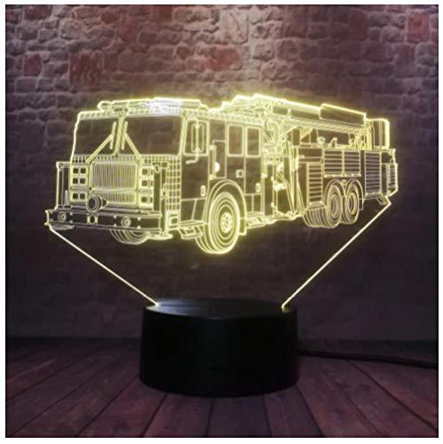 LED lámpara de ilusión Carro de carro Acrílica 3D Luz de Noche USB Cable Brillo Casa Luz de Diseño Creativo Dormitorio Decoración Iluminación Regalo Juguete para-Touch