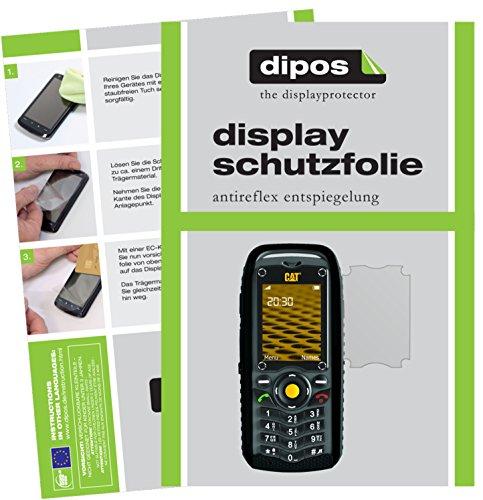 dipos I 2X Schutzfolie matt kompatibel mit Caterpillar CAT B25 Folie Bildschirmschutzfolie