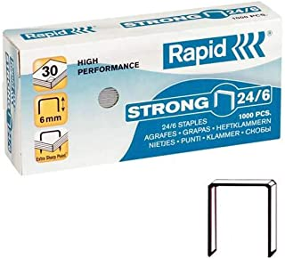 Rapid 24855800 Staples Strong 24/6 Galvanised