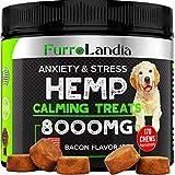 FurroLandia Hemp Calming Treats for Dogs - 170 Soft Chews - Made in USA - Hemp Oil for Dog...