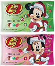 Jelly Belly Disney Mickey and Minnie Mouse Stocking Stuffer Jelly Beans, Assorted Flavors, 1-oz, 24 Pack
