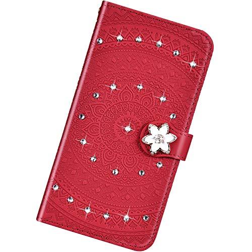 Urhause Funda Compatible con Sony Xperia L3,Cuero Bling Diamante...