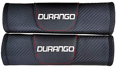 QUXING 2 Piezas Carbono Coche Almohadillas, para Dodge Durango Cinturón De Seguridad Adultos Niños Comfort Suavesy Protection Accesorios