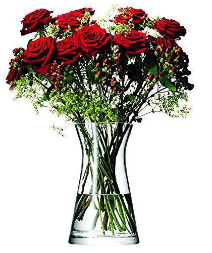 LSA FW08 Flower, Vaso per bouquet di fiori, altezza: 29 cm, Trasparente