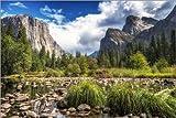 Poster 91 x 61 cm: Yosemite Valley von Salvadori Chiara -