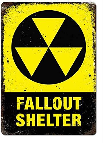 Fallout Shelter Cartel de hierro Placa de puerta de pared de hojalata...