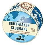 moses. 82438 Fernweh Deko Briefmarken Klebeband | zum dekorieren und Verzieren | Briefmarkensticker