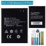 E-yiiviil Li3821T43P3h745741 - Batería de repuesto compatible con ZTE Blade L5 Plus C370 con herramientas de ajuste