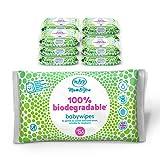 Mum & You Toallitas Húmedas Para Bebés 100% Biodegradables, Paquete De 12,...