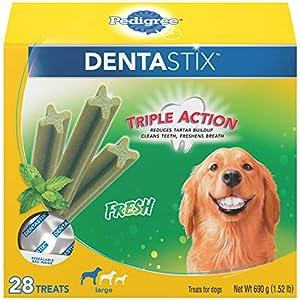 PEDIGREE DENTASTIX Fresh Breath Large Dog Dental Treats Fresh Flavor Dental Bones, 1.52 lb. Pack (28 Treats)