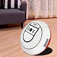 AWJミニスマートロボット掃除機、超薄型電気無線自動多方向吸引機家庭用、創造的,白