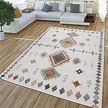 TT Home Alfombra, Alfombra De Pelo Corto para Salón, Diseño Étnico, Efecto 3D, Beige, Größe:160x230 cm