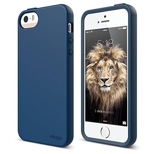 iPhone SE case, elago [Flex][Jean Indigo] - [Robust TPU][Shock Absorbing][Cushioned] - for iPhone SE/5/5S