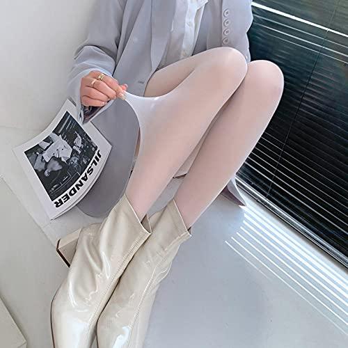 SUNXC Medias Brillantes, Pantimedias Anti-Enganche, Calcetines de Fondo Color Carne de Color Ultrafino, Paquete de 3, café,Rejilla Medias de Malla