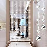 WERTYU Rideau en Perles De Verre Cristal Porte Rideau Moderne Pendentif Porte Ouverture Chambre Diviseur Panneau DéCoration Pendaison, Personnalisable-30 cordes-110x180cm