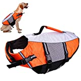 Dog Life Vest Jacket for Swimming kayaking boating Lifesaver Coat for Small Medium Large Xl Dogs Pet Swimsuit Preserver Flotation Device Reflective Adjustable High Visibility Quick Release lifeguards
