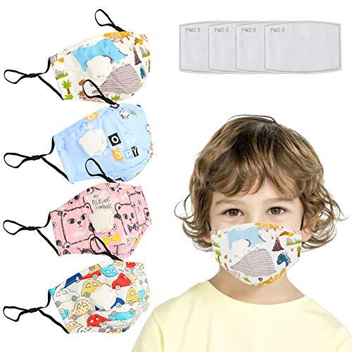 Modische, Wiederverwendbare, waschbare Gesichts-Baumwollabdeckung - Enthält 4-teilige Filter