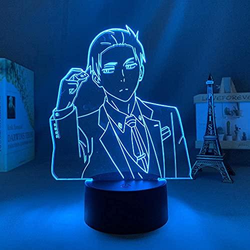 3D llevó la luz de la noche Harry lámpara, anime figura de acción llevó la luz de la noche manga el millonario detective equilibrio ilimitado Huesca lámpara Kawaii decoración de la habitación