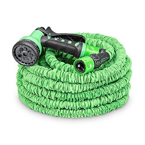 tillvex flexiSchlauch - Flexibler Gartenschlauch 7,5-30m | Testurteil GUT | verbesserte Version 2019 | Wasserschlauch flexibel | Gartenteichschlauch dehnbar | grün (22,5m)