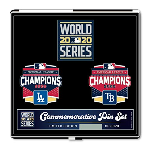 2020 Commemorative Dueling World Series Lapel Pin Set - Dodgers vs. Rays - Limited Edition of 2,020