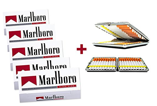 1.000 Marlboro Rot Filterhülsen + Wahlweise:Zigarettenbox oder Etui (Etui)