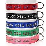 Amakunft Collar de Perro Personalizado con Nombre, Nombre Bordado teléfono número Mascota, Collar de identificación Personalizado para Perros