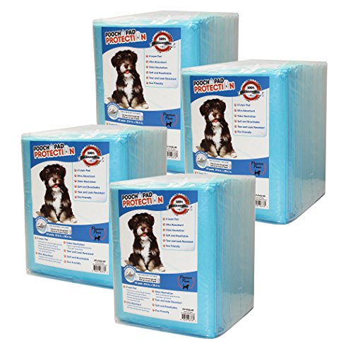 Pooch Pad Protection Best Dog Training Pads 160 Count XX-Large Premium Quality Liquid Absorbent #1 Wee Wee Pads. Thick Puppy Pads! Recommended!
