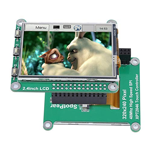 Tangxi 2,4 Zoll Bildschirmanzeige XPT2046 48Mhz resistive Touchscreen-Hintergrundbeleuchtung mit LED-Stift 64 * 55 * 20mm / 2.5 * 2.2 * 0.8in für Raspberry Pi A +, Raspberry Pi 3 Modul B/B +