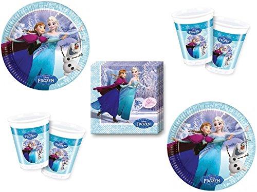 Eiskönigin Ice Skating Party Deko Set (52 teilig - 16 Kinder)
