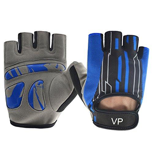 Vegas Pro Crossfit, Athlet, Athletic, Gewicht Heben, Gewichtheben, Training, Fitness, Racquetball und Handschuhe für Damen und Herren, blau
