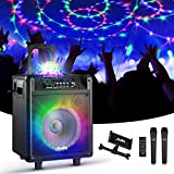 Moukey Karaoke Machine for Adults,Peak Power 540W Bluetooth 5.0 Portable System PA Stereo with 10'...
