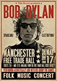 Close Up Bob Dylan Poster Manchester Free Trade Hall