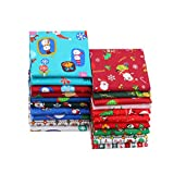 20er Pack Baumwollstoff Weihnachten Stoffpakete