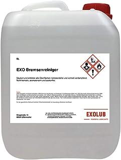 EXOLUB Środek do czyszczenia hamulców, odtłuszczacz montażowy, bez acetonu, kanister 5 l, 5 l, czyszczenie i odtłuszczanie...
