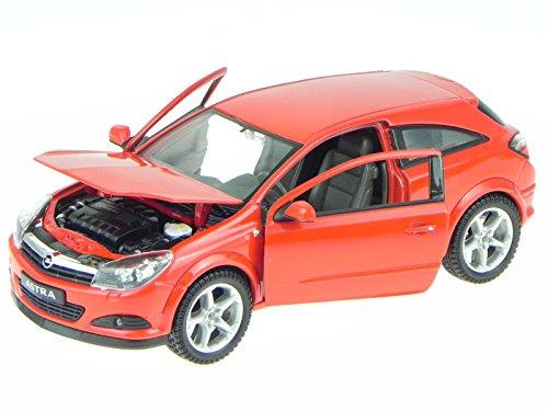Opel Astra G GTC 2005 rot Modellauto 22469 Welly 1:24