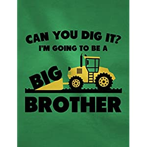 Tstars Going To Be A Big Brother Gift For Tractor Loving Boys Toddler/Infant Kids T-Shirt 3T Green