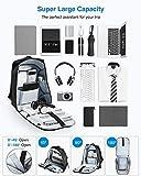 HOMIEE Mochila Antirrobo Impermeable,Mochila de Negocios Impermeable con Carga USB Bolsa de Viaje,Mochila para Portátil, Negro