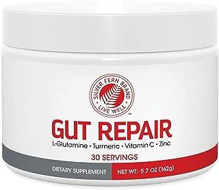 Gut Repair - Digestive Health Supplement Powder - L-Glutamine, Curcumin, Zinc & Ascorbic Acid Blend to Rebu...