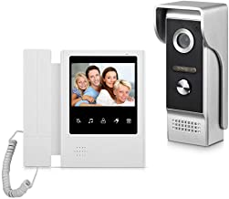 AMOCAM Video Door Phone System, 4.3 Inches Touch Monitor Wired Video Intercom Doorbell..